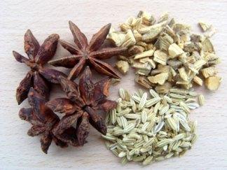 Ingredienser til lakrids-the