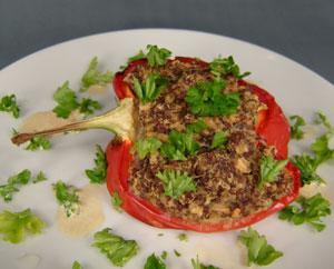 peberfrugt med quinoa